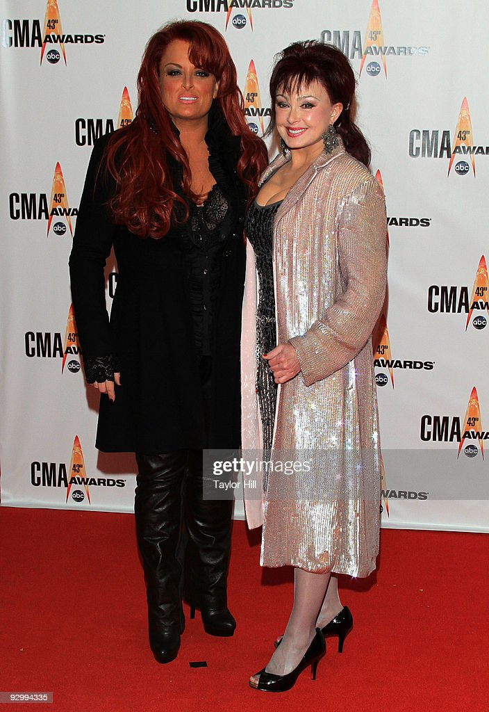 Singers Wynonna Judd and Naomi Judd attend the 43rd Annual CMA Awards at the Sommet Center on November 11 2009 in Nashville Tennessee