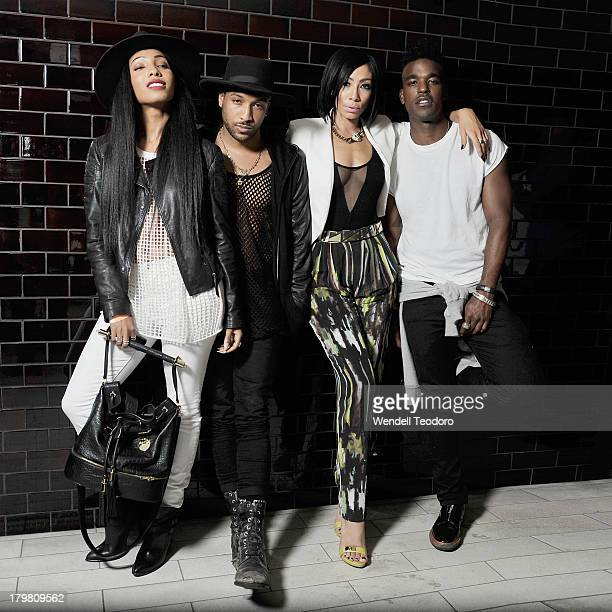 Singers Wynter Gordon Ro James Bridget Kelly and Luke James attends the Jason Wu after party during Spring 2014 MercedesBenz Fashion Week at The...
