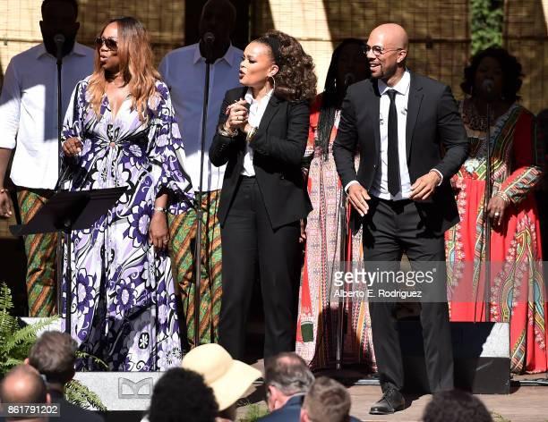 Singers Yolanda Adams Andra Day and Common Oprah Winfrey's Gospel Brunch celebrating her new book 'Wisdom of Sundays' on October 15 2017 in Montecito...