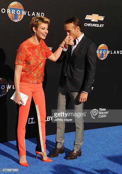 Singers/musicians Faith Hill and Tim McGraw attend Disney's 'Tomorrowland' Los Angeles Premiere at AMC Downtown Disney 12 Theater on May 9 2015 in...