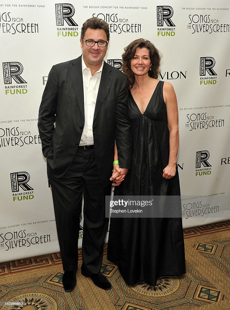 Singers/musicians <a gi-track='captionPersonalityLinkClicked' href=/galleries/search?phrase=Vince+Gill&family=editorial&specificpeople=215309 ng-click='$event.stopPropagation()'>Vince Gill</a> and <a gi-track='captionPersonalityLinkClicked' href=/galleries/search?phrase=Amy+Grant&family=editorial&specificpeople=240521 ng-click='$event.stopPropagation()'>Amy Grant</a> attend the after party for the 2012 Concert for the Rainforest Fund at The Pierre Hotel on April 3, 2012 in New York City.