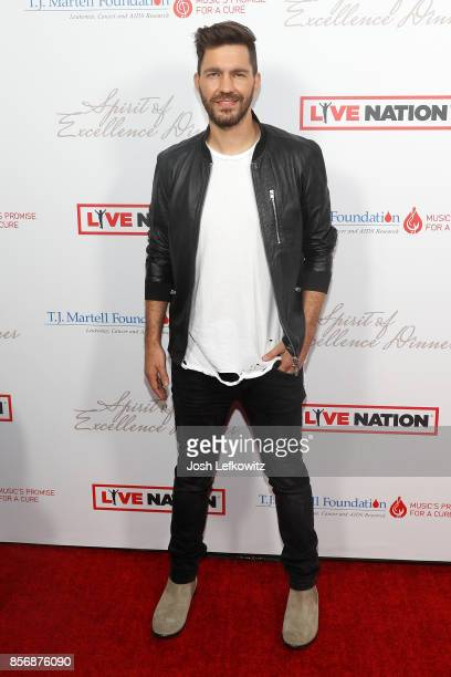 Singer/songerwriter Andy Grammer attends the TJ Martell Foundation's Spirit of Excellence dinner at the Luxe Sunset Boulevard Hotel on October 2 2017...