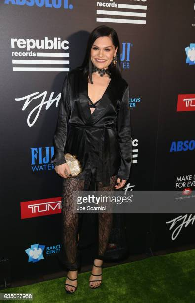 Singersongriter Jessie J at a celebration of music with Republic Records cosponsored by FIJI Water at Catch LA on February 12 2017 in West Hollywood...