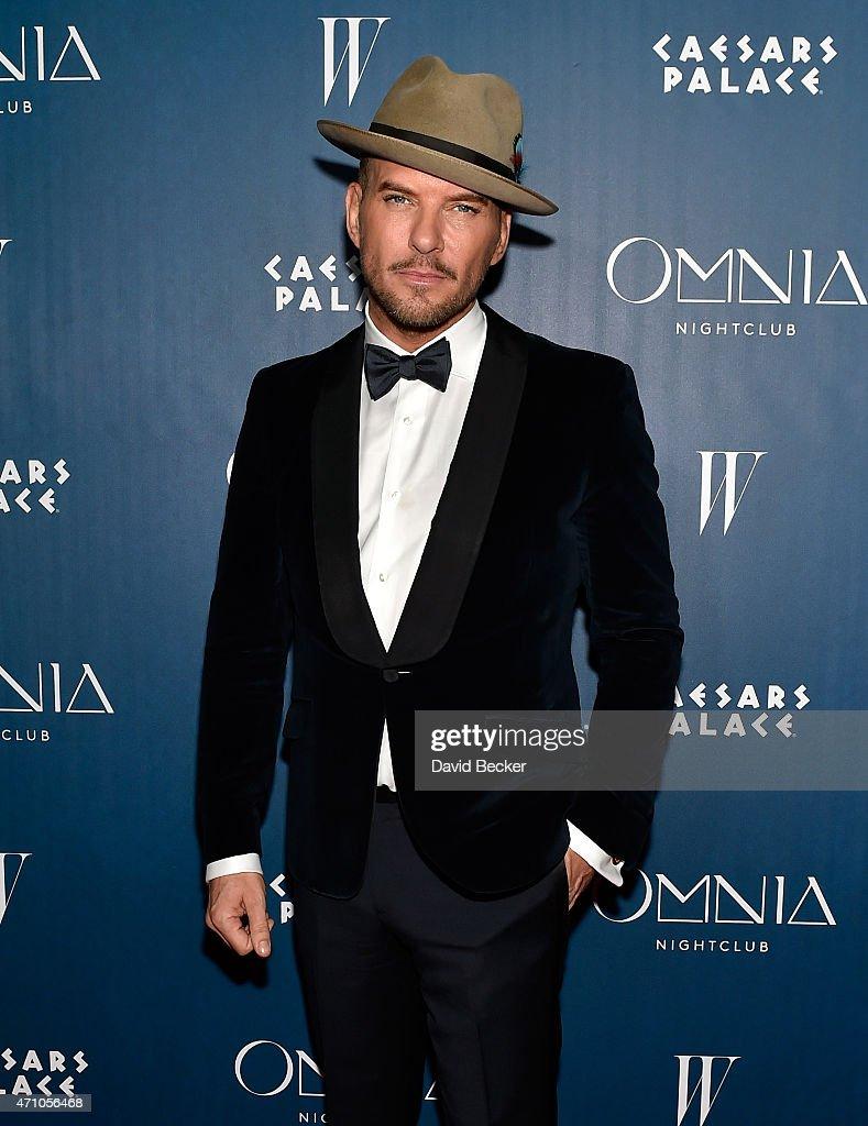 Singer/songwrighter Matt Goss arrives at the grand opening celebration at Omnia Nightclub at Caesars Palace on April 24 2015 in Las Vegas Nevada