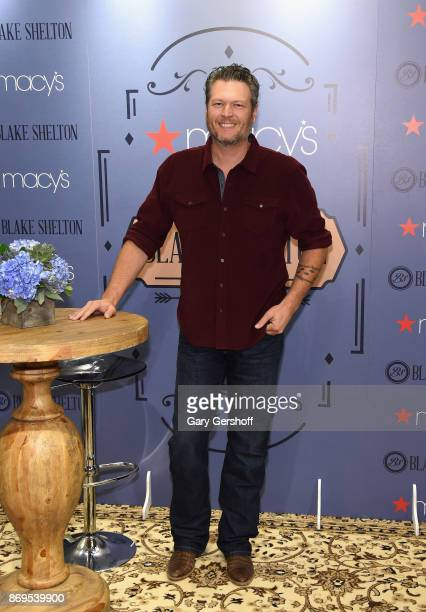 Singer/songwriter actor and TV personality Blake Shelton attends the BS by Blake Shelton launch at Macy's Herald Square on November 2 2017 in New...