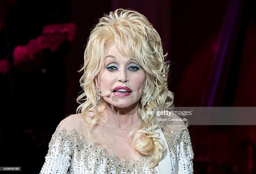 , author, businesswoman Dolly Parton performs during Dolly Parton ...