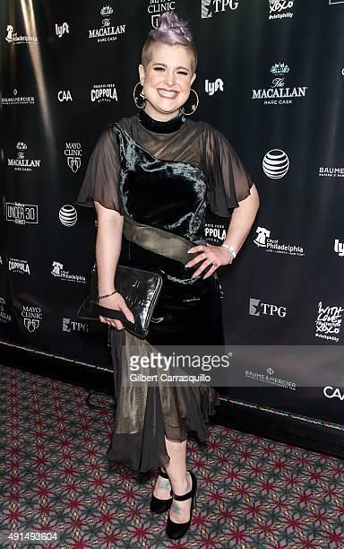 Singersongwriter actress television presenter and fashion designer Kelly Osbourne attends the Forbes Under 30 Summit at Pennsylvania Convention...