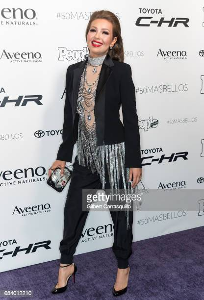 Singersongwriter actress Thalia Mottola arrives at People en Espanol's 50 Most Beautiful Gala 2017 at Espace on May 16 2017 in New York City