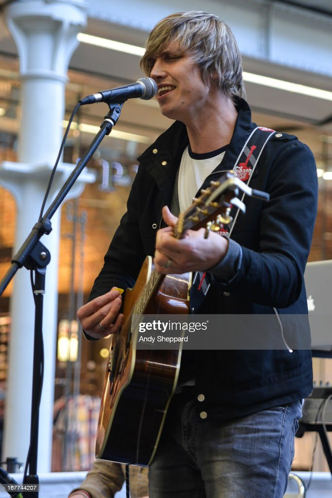 Singer-songwriter Adam Isaac performs at Station Sessions Festival 2014 at St Pancras Station on April 26, 2013 in London, England.