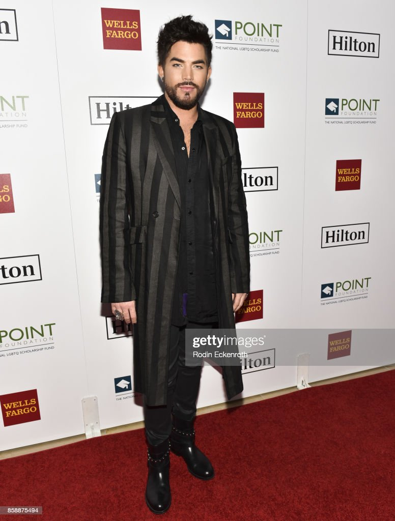 Singer-songwriter Adam Lambert attends Point Honors Los Angeles at The Beverly Hilton Hotel on October 7, 2017 in Beverly Hills, California.