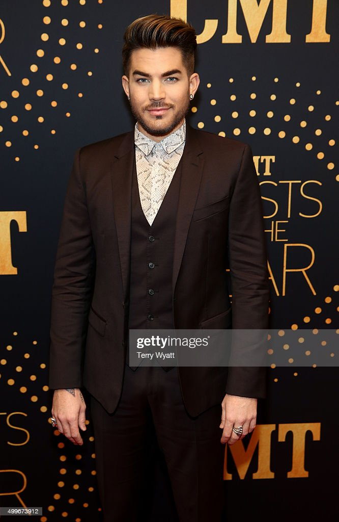 Singer-songwriter <a gi-track='captionPersonalityLinkClicked' href=/galleries/search?phrase=Adam+Lambert&family=editorial&specificpeople=5706674 ng-click='$event.stopPropagation()'>Adam Lambert</a> attends the 2015 'CMT Artists of the Year' at Schermerhorn Symphony Center on December 2, 2015 in Nashville, Tennessee.