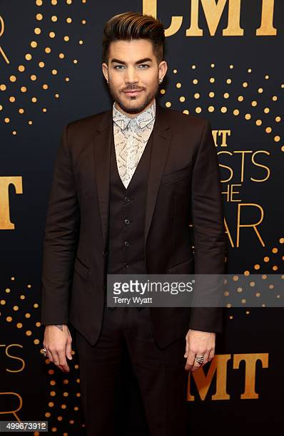 Singersongwriter Adam Lambert attends the 2015 'CMT Artists of the Year' at Schermerhorn Symphony Center on December 2 2015 in Nashville Tennessee