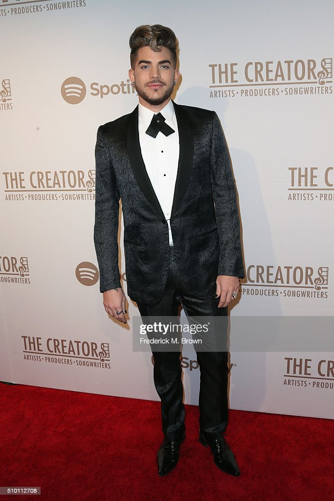 Singer/songwriter <a gi-track='captionPersonalityLinkClicked' href=/galleries/search?phrase=Adam+Lambert&family=editorial&specificpeople=5706674 ng-click='$event.stopPropagation()'>Adam Lambert</a> attends The Creators Party presented by Spotify at Cicada on February 13, 2016 in Los Angeles, California.