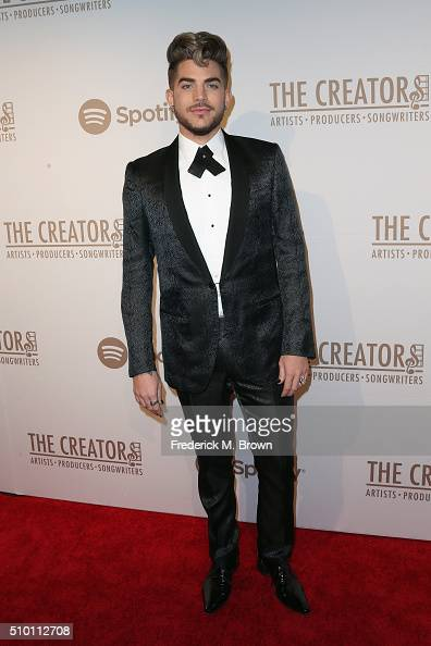 Singer/songwriter Adam Lambert attends The Creators Party presented by Spotify at Cicada on February 13 2016 in Los Angeles California