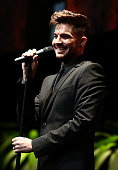 Singer/songwriter Adam Lambert performs onstage during Family Equality Council's annual Los Angeles awards dinner at The Globe Theatre on February 8...