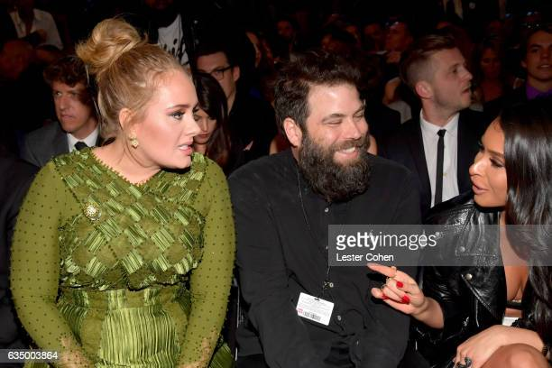 Singersongwriter Adele and Simon Konecki during The 59th GRAMMY Awards at STAPLES Center on February 12 2017 in Los Angeles California