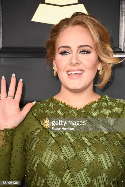 Singersongwriter Adele attends The 59th GRAMMY Awards at STAPLES Center on February 12 2017 in Los Angeles California