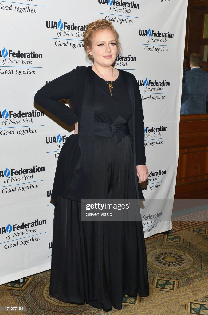 Singer/songwriter Adele attends UJA-Federation Of New York Music Visionary Of The Year Award Luncheon at The Pierre Hotel on June 21, 2013 in New York City.