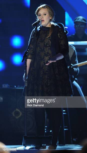 Singer/Songwriter Adele perform during the CMT Artists of the Year at The Factory on November 30 2010 in Franklin Tennessee