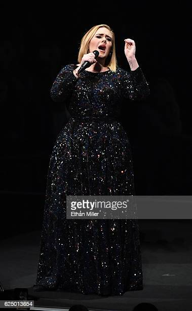 Singer/songwriter Adele performs during the final concert of her North American tour at Talking Stick Resort Arena on November 21 2016 in Phoenix...