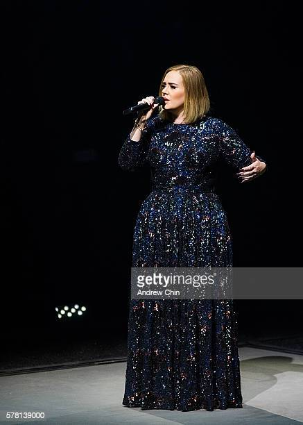 Singersongwriter Adele performs onstage during her North American Tour at Pepsi Live at Rogers Arena on July 20 2016 in Vancouver Canada
