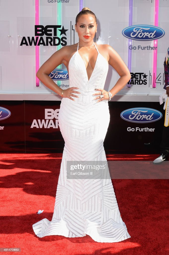 Singer-songwriter <a gi-track='captionPersonalityLinkClicked' href=/galleries/search?phrase=Adrienne+Bailon&family=editorial&specificpeople=540286 ng-click='$event.stopPropagation()'>Adrienne Bailon</a> attends the BET AWARDS '14 at Nokia Theatre L.A. LIVE on June 29, 2014 in Los Angeles, California.