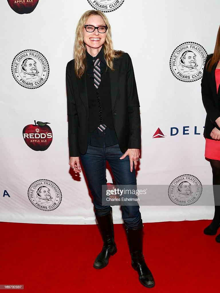 Singer/songwriter Aimee Mann attends The Friars Club Roast Honors Jack Black at New York Hilton and Towers on April 5, 2013 in New York City.