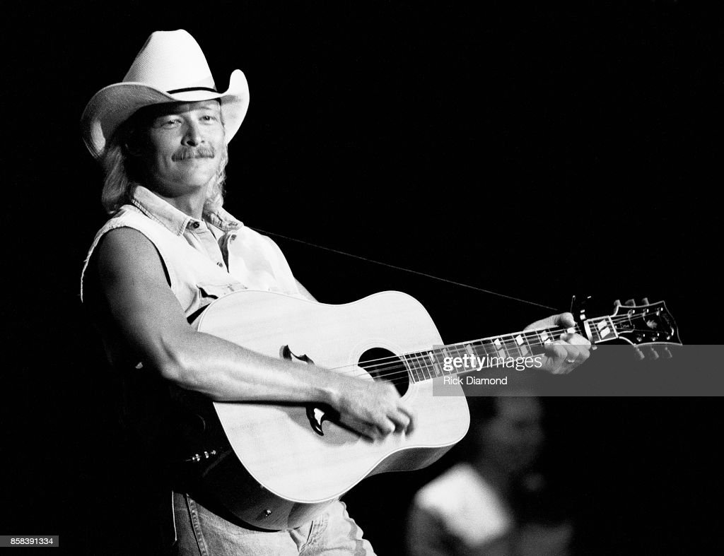 Singer/Songwriter Alan Jackson performs at The OMNI Coliseum in Atlanta Georgia February 19, 1991
