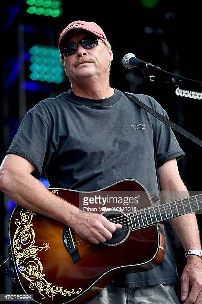 Singer/songwriter Alan Jackson rehearses onstage during ACM Presents Superstar Duets at Globe Life Park in Arlington on April 18 2015 in Arlington...