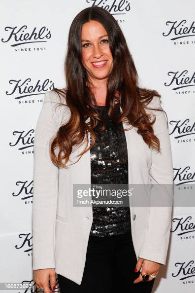 Singer/songwriter Alanis Morissette attends Kiehl's launch of an Environmental Partnership Benefiting Recycle Across America at Kiehl's Since 1851...