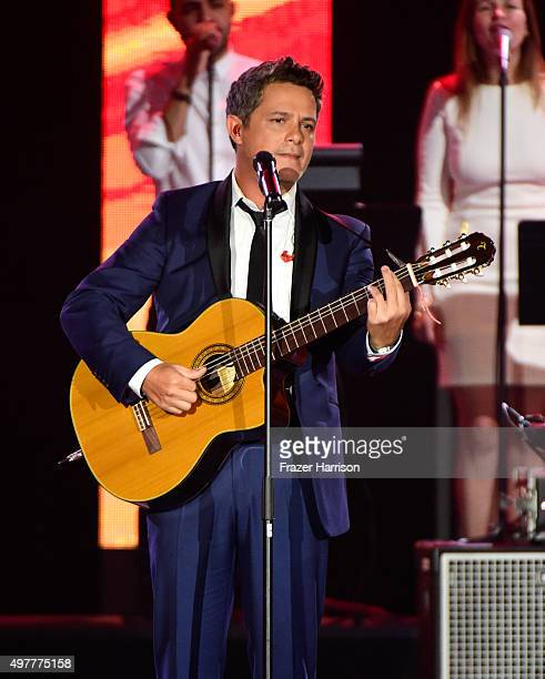 Singer/songwriter Alejandro Sanz performs onstage during the 2015 Latin GRAMMY Person of the Year honoring Roberto Carlos at the Mandalay Bay Events...