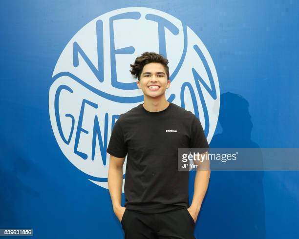 Singersongwriter Alex Aiono attends the 22nd Annual Arthur Ashe Kid's Day event at the USTA Billie Jean King National Tennis Center on August 26 2017...