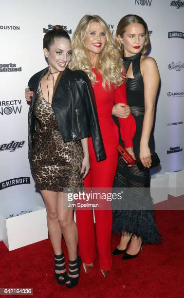 Singer/songwriter Alexa Ray Joel model Christie Brinkley and Sailor Lee BrinkleyCook attend the Sports Illustrated Swimsuit 2017 launch event at...