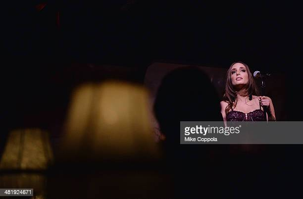 Singer/songwriter Alexa Ray Joel performs at Cafe Carlyle on April 1 2014 in New York City