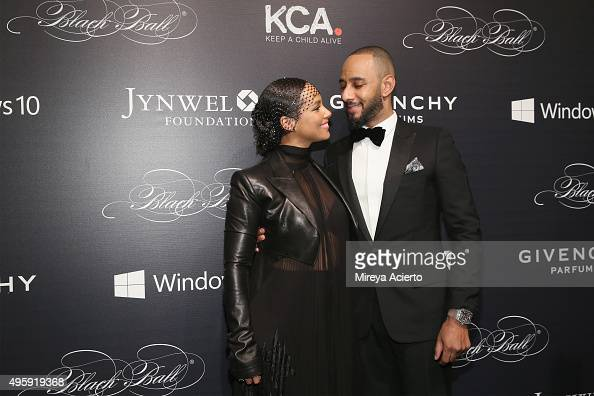 Singer/songwriter Alicia Keys and producer Swizz Beatz attend 2015 'Keep A Child Alive' Black Ball at Hammerstein Ballroom on November 5 2015 in New...