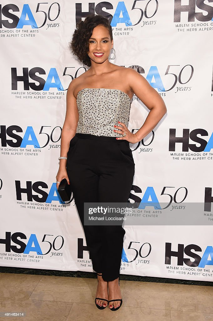 Singer-songwriter <a gi-track='captionPersonalityLinkClicked' href=/galleries/search?phrase=Alicia+Keys&family=editorial&specificpeople=169877 ng-click='$event.stopPropagation()'>Alicia Keys</a> attends the Harlem School of the Arts 50th anniversary kickoff at The Plaza on October 5, 2015 in New York City.