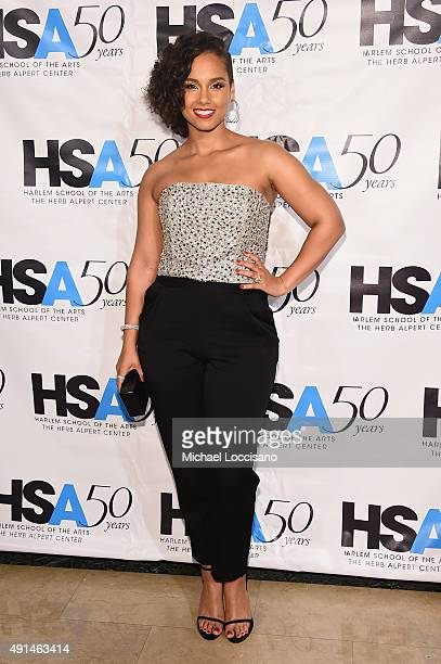 Singersongwriter Alicia Keys attends the Harlem School of the Arts 50th anniversary kickoff at The Plaza on October 5 2015 in New York City