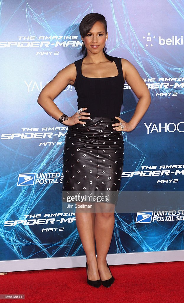 Singer/songwriter Alicia Keys attends the 'The Amazing Spider-Man 2' New York Premiere on April 24, 2014 in New York City.