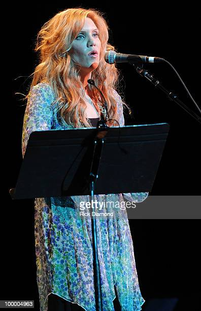 Singer/Songwriter Alison Krauss performs during the 'Music Saves Mountains' benefit concert at the Ryman Auditorium on May 19 2010 in Nashville...