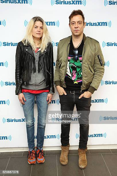 Singersongwriter Alison Mosshart and guitarist Jamie Hince of The Kills visit SiriusXM Studio on April 12 2016 in New York City