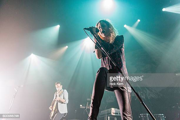 Singersongwriter Alison Mosshart and musician Jamie Hince of The Kills perform in concert at ACL Live on September 8 2016 in Austin Texas