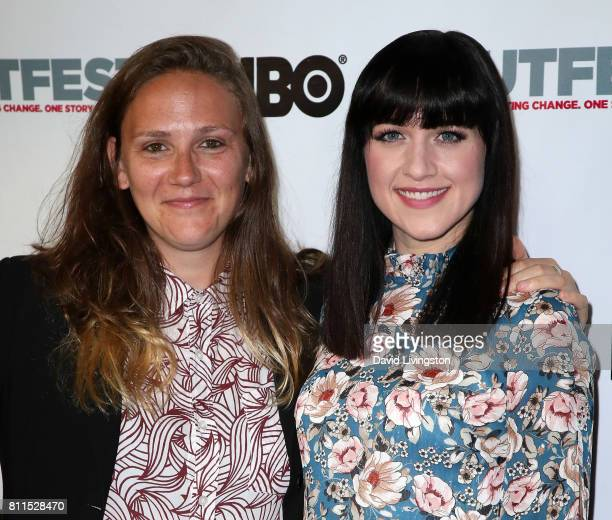 Singer/songwriter Alyssa Robbins and actress Lena Hall attend the 2017 Outfest Los Angeles LGBT Film Festival centerpiece screening of 'Becks' at the...