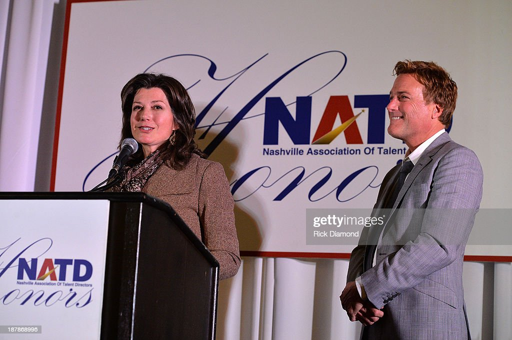 Singer/Songwriter Amy Grant and Singer/Songwriter Michael W Smith attend the 3rd annual NATD Honors 2013 at the Hermitage Hotel on November 12 2013...