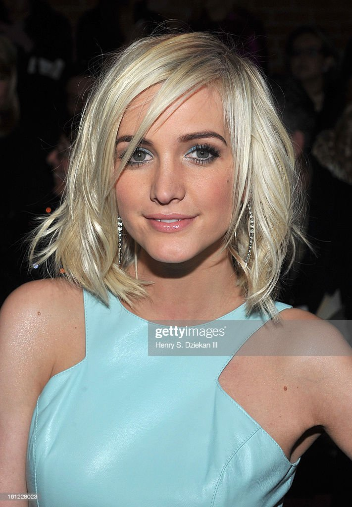 Singer/Songwriter and actress Ashlee Simpson attends the Christian Siriano show during Fall 2013 Mercedes-Benz Fashion Week at Eyebeam on February 9, 2013 in New York City.