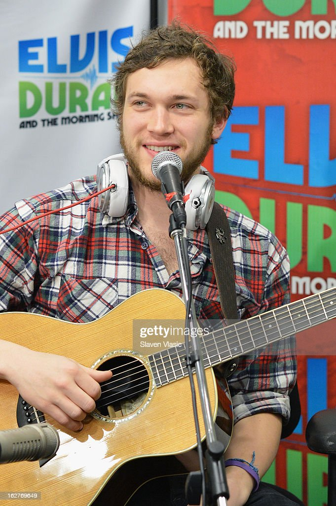 Singer/songwriter and American Idol's 11th season winner Phillip Phillips visits at Z100 Studio on February 26, 2013 in New York City.