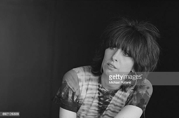 Singersongwriter and guitarist Chrissie Hynde of American rock group The Pretenders London September 1986