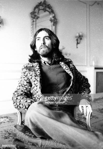 Singersongwriter and guitarist George Harrison Cannes France 30th January 1976