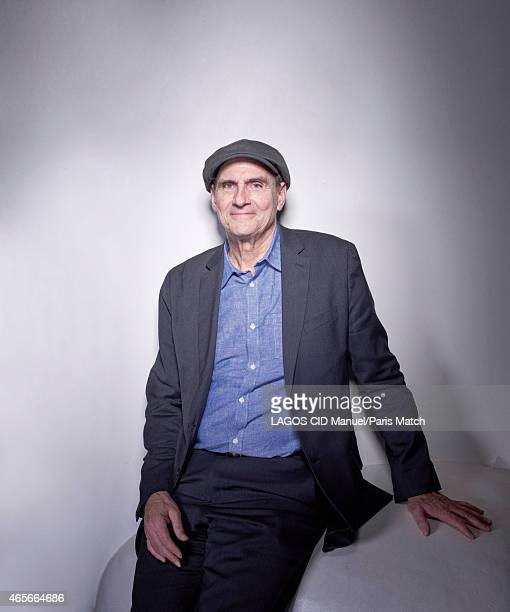 Singersongwriter and guitarist James Taylor is photographed for Paris Match on January 14 2015 in Paris France