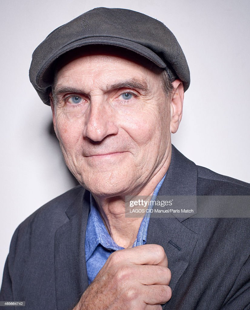 Singer-songwriter and guitarist <a gi-track='captionPersonalityLinkClicked' href=/galleries/search?phrase=James+Taylor+-+Songwriter&family=editorial&specificpeople=206431 ng-click='$event.stopPropagation()'>James Taylor</a> is photographed for Paris Match on January 14, 2015 in Paris, France.