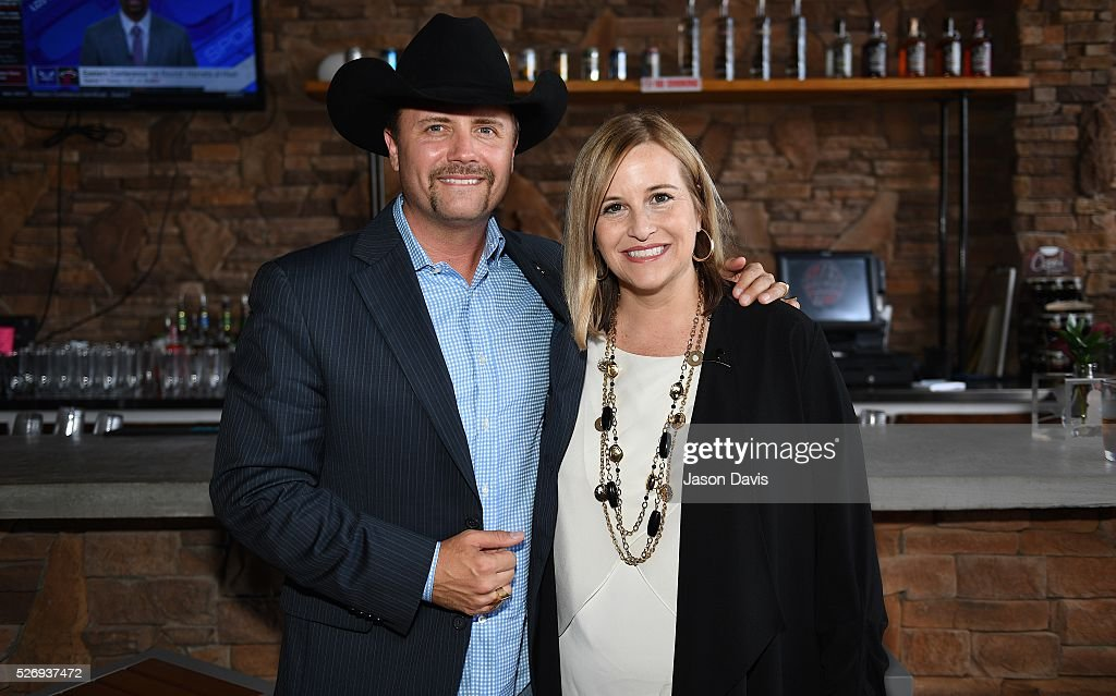Singer/Songwriter and longtime St. Jude supporter John Rich, and Nashville Mayor Megan Barry gather at the George Jones Museum to celebrate top fundraising St. Jude Heroes for the 17th annual St. Jude Rock 'n' Roll Nashville Marathon on May 1, 2016 in Nashville, Tennessee.